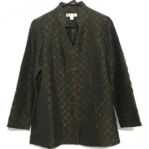 Coldwater Creek  Green Button Down Jacket